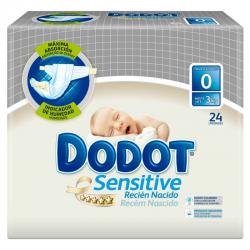 DODOT T-0 SENSITIVE RECIEN NACIDO 24ud (-3kg)
