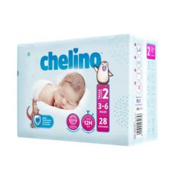 CHELINO PAÑAL T-2 RECIEN NACIDO (3-6KG) 28ud