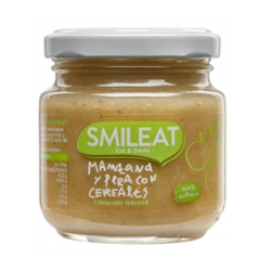 SMILEAT MANZANA Y PERAS CON CEREALES 130gr +4 meses