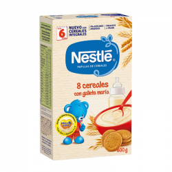 NESTLE 8 CEREALES CON GALLETA MARIA - 600 gr