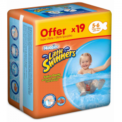 HUGGIES LITTLE SWIMMERS T 5-6 (12-18Kg) 19 ud