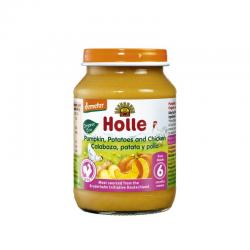 HOLLE TARRITOS CALABAZA PATATA Y POLLO 190 gr
