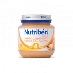 NUTRIBEN MANZANA, NARANJA, PLÁTANO Y GALLETA 130 gr