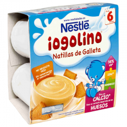 NESTLE IOGOLINO NATILLAS DE GALLETA 4x100 gr