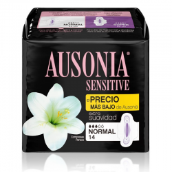 AUSONIA SENSITIVE NORMAL CON ALAS 14 ud